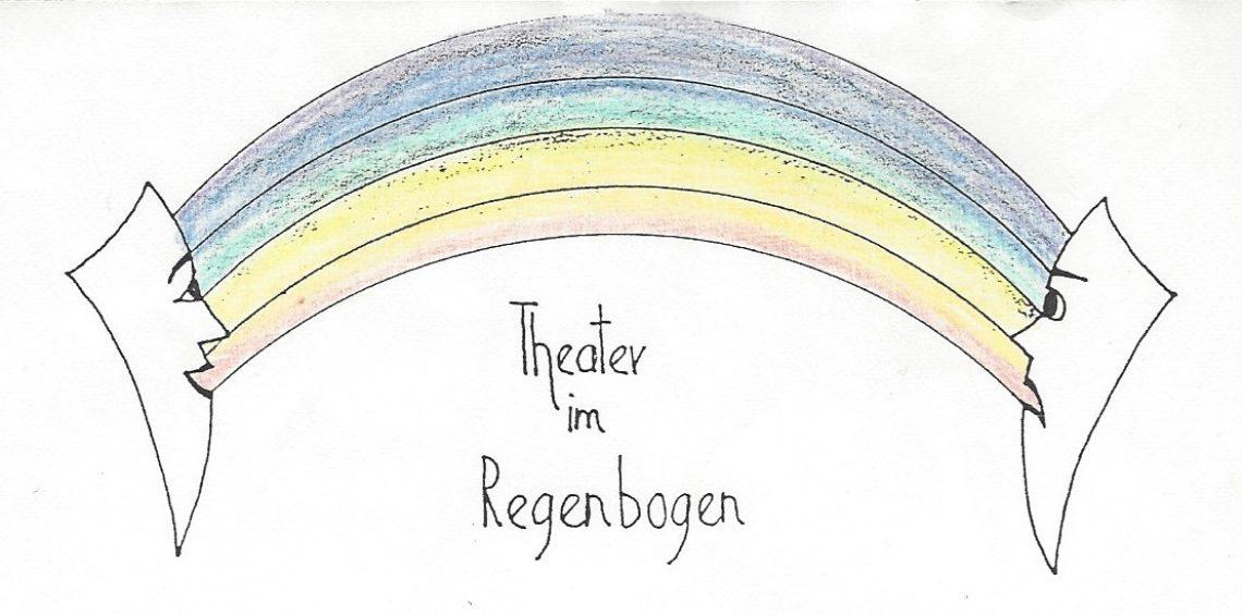 Unser erstes Logo von Judith Wieser. Ein Stempel, der jedesmal liebevoll in Regenbogenfarben ausgemalt wurde.
