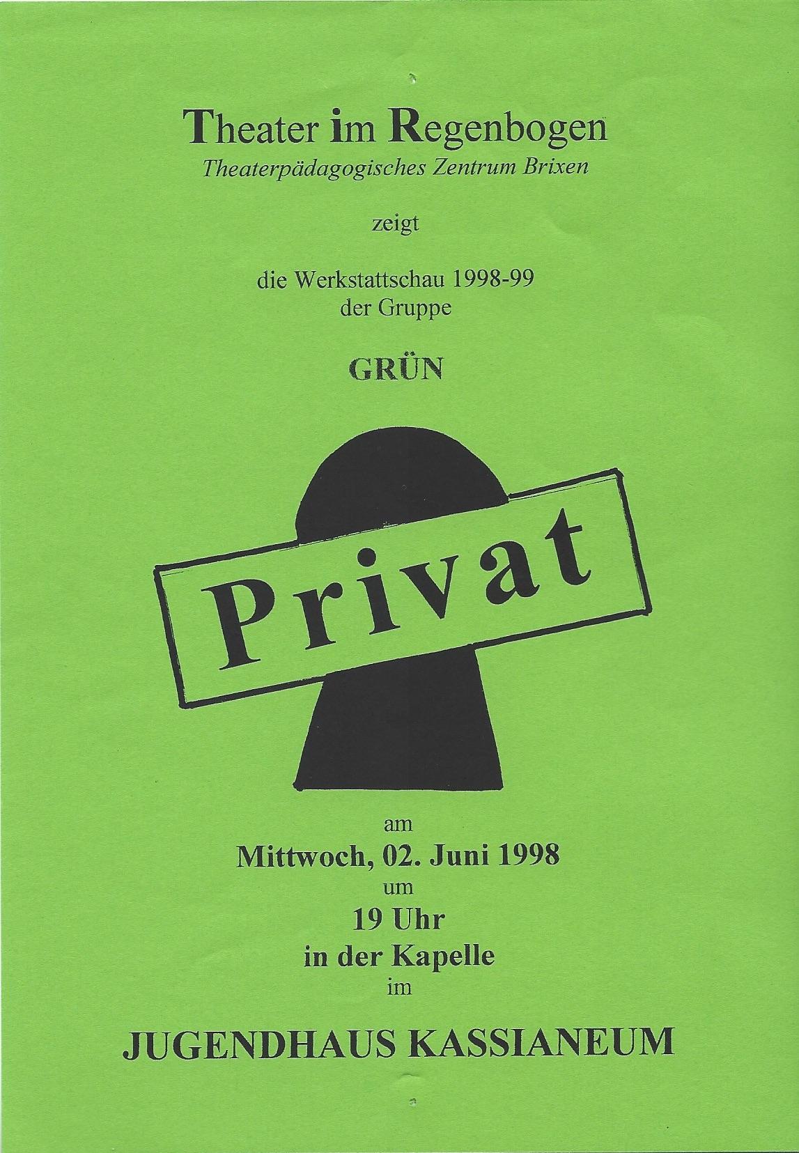1999 grün Privat Plakat.jpg