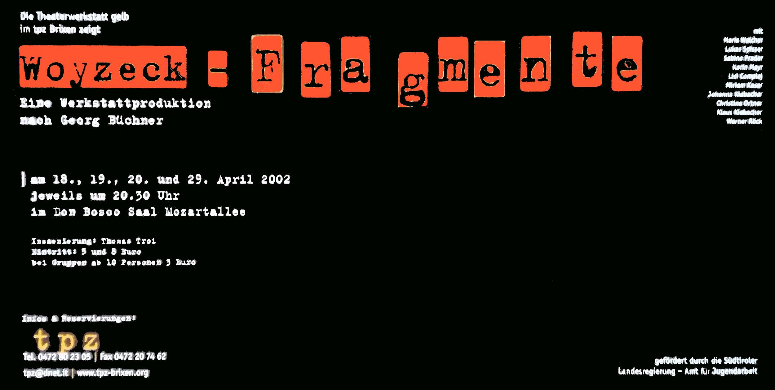 2002 gelb Woyzeck Fragmente Plakat.jpg