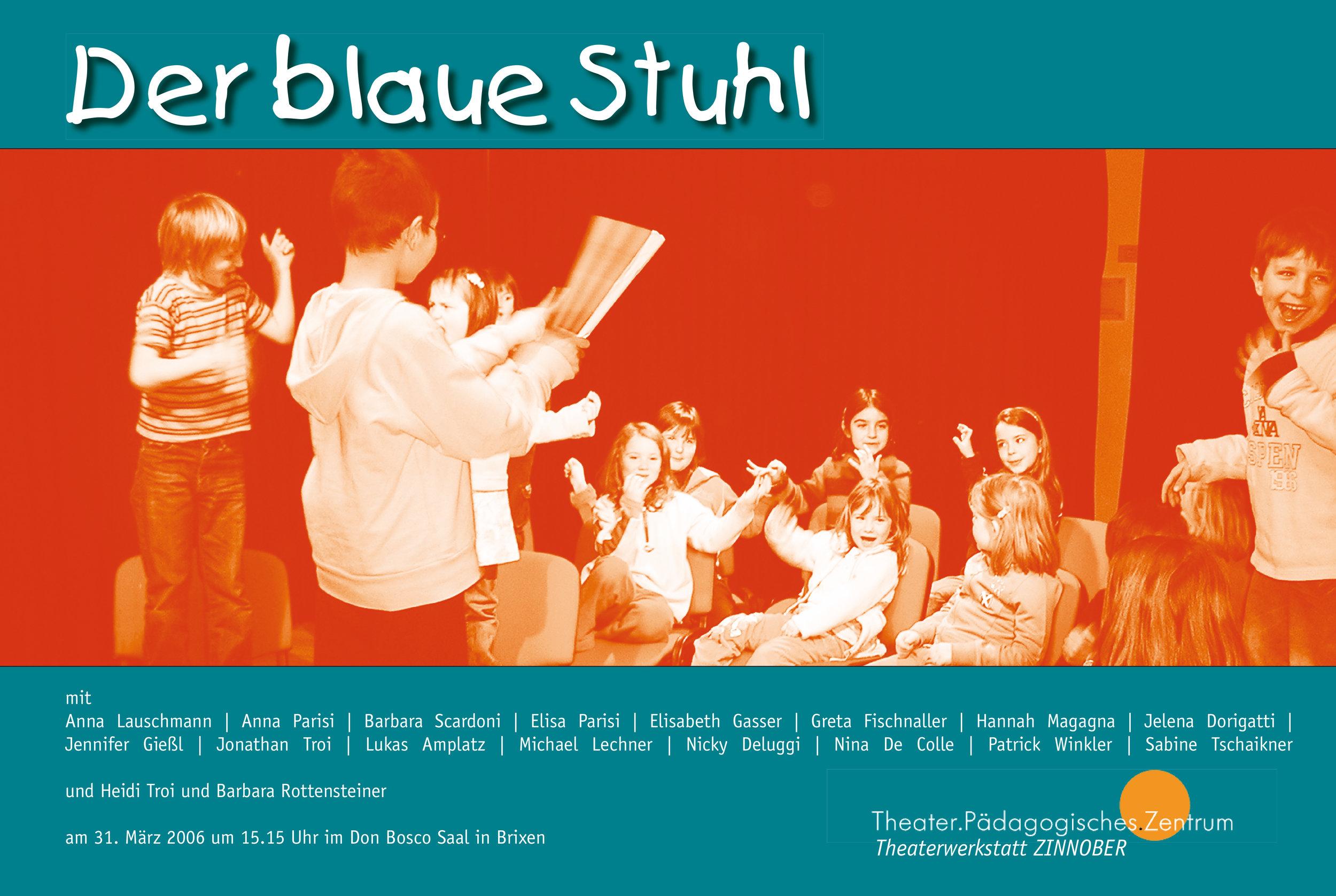 2006 zinnober Der blaue Stuhl Plakat.jpg