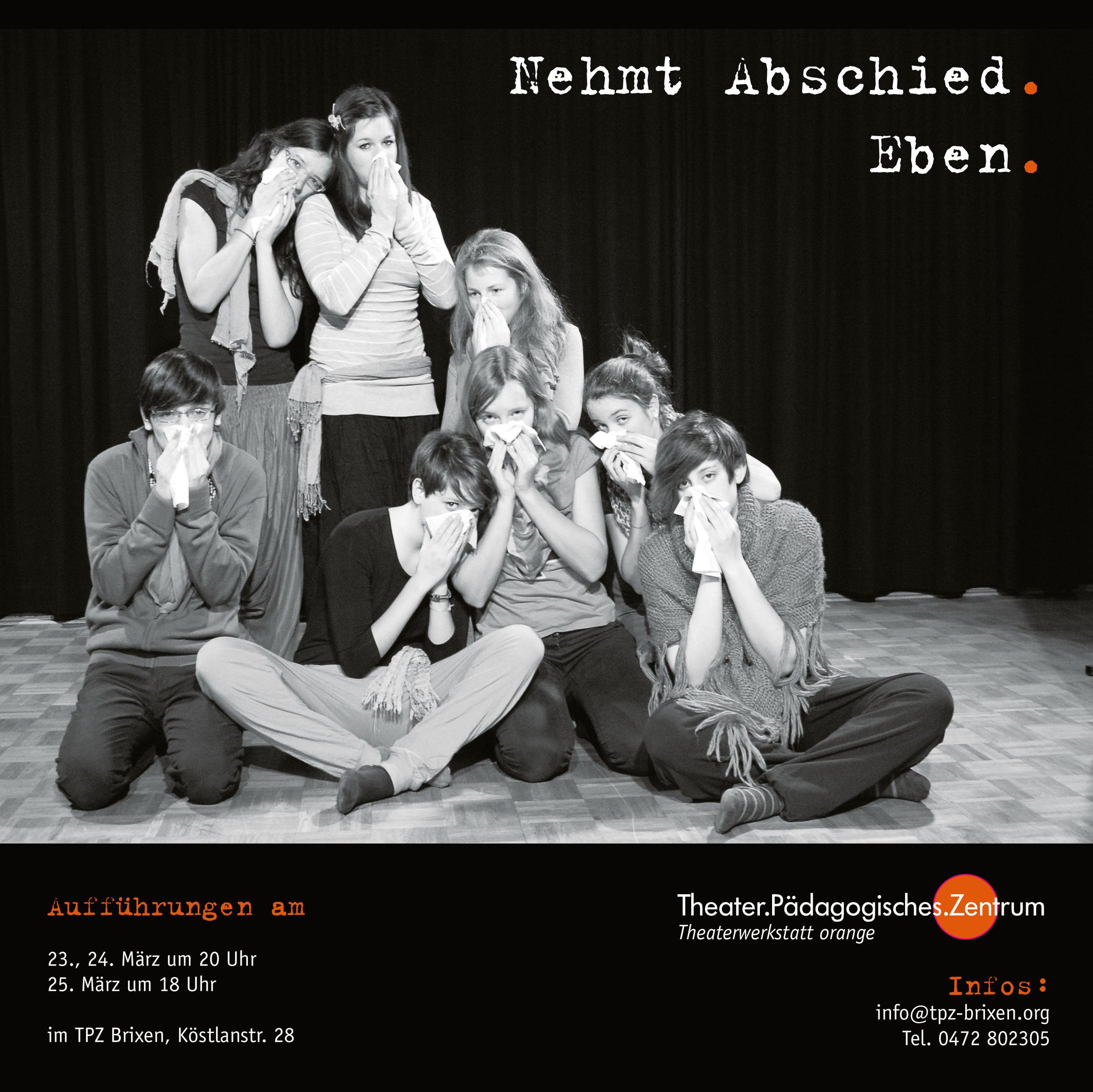 2012 orange Nehmt Abschied Plakat.jpg