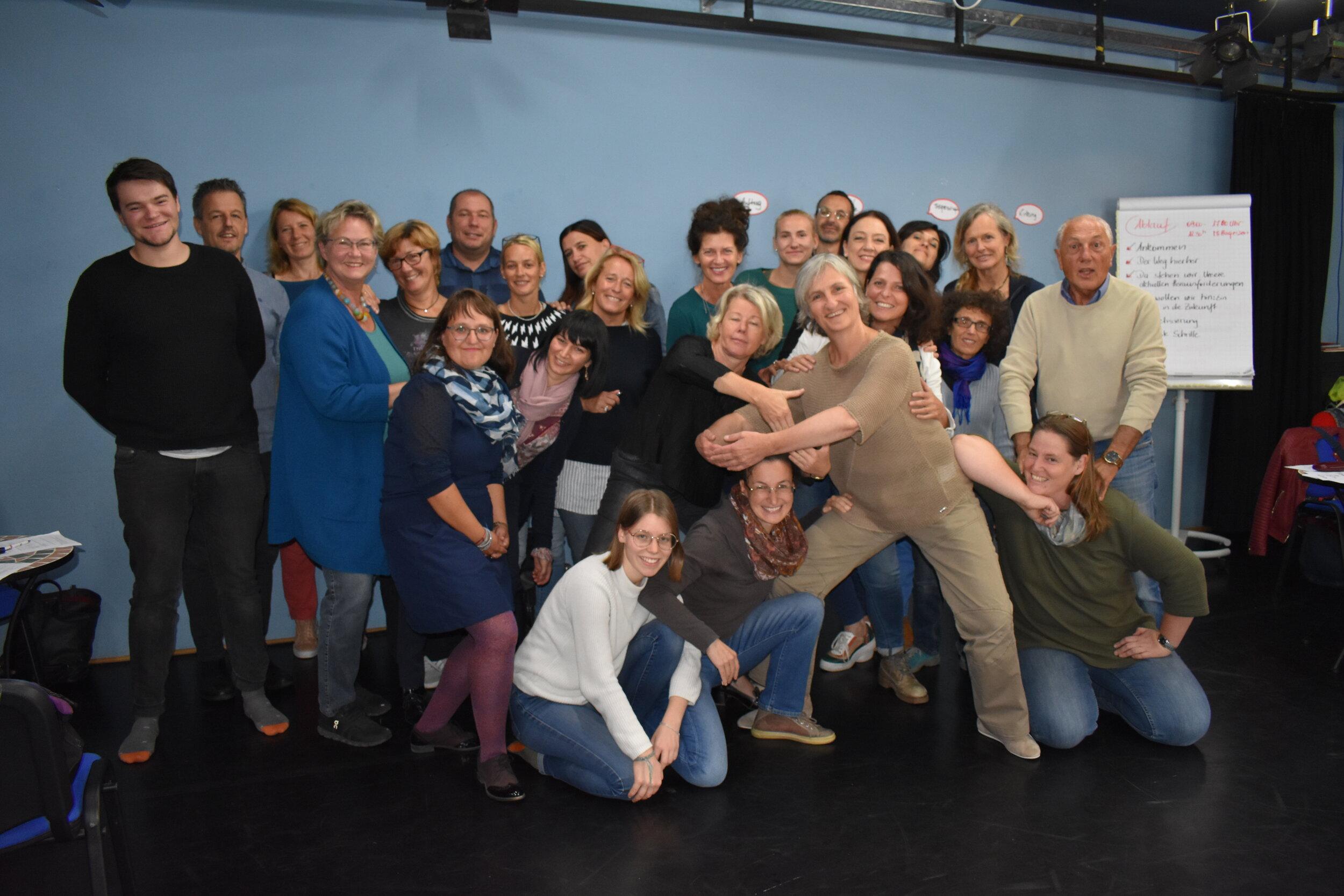 Die Gründungsmitglieder der Plattform Theaterpädagogik Südtirol