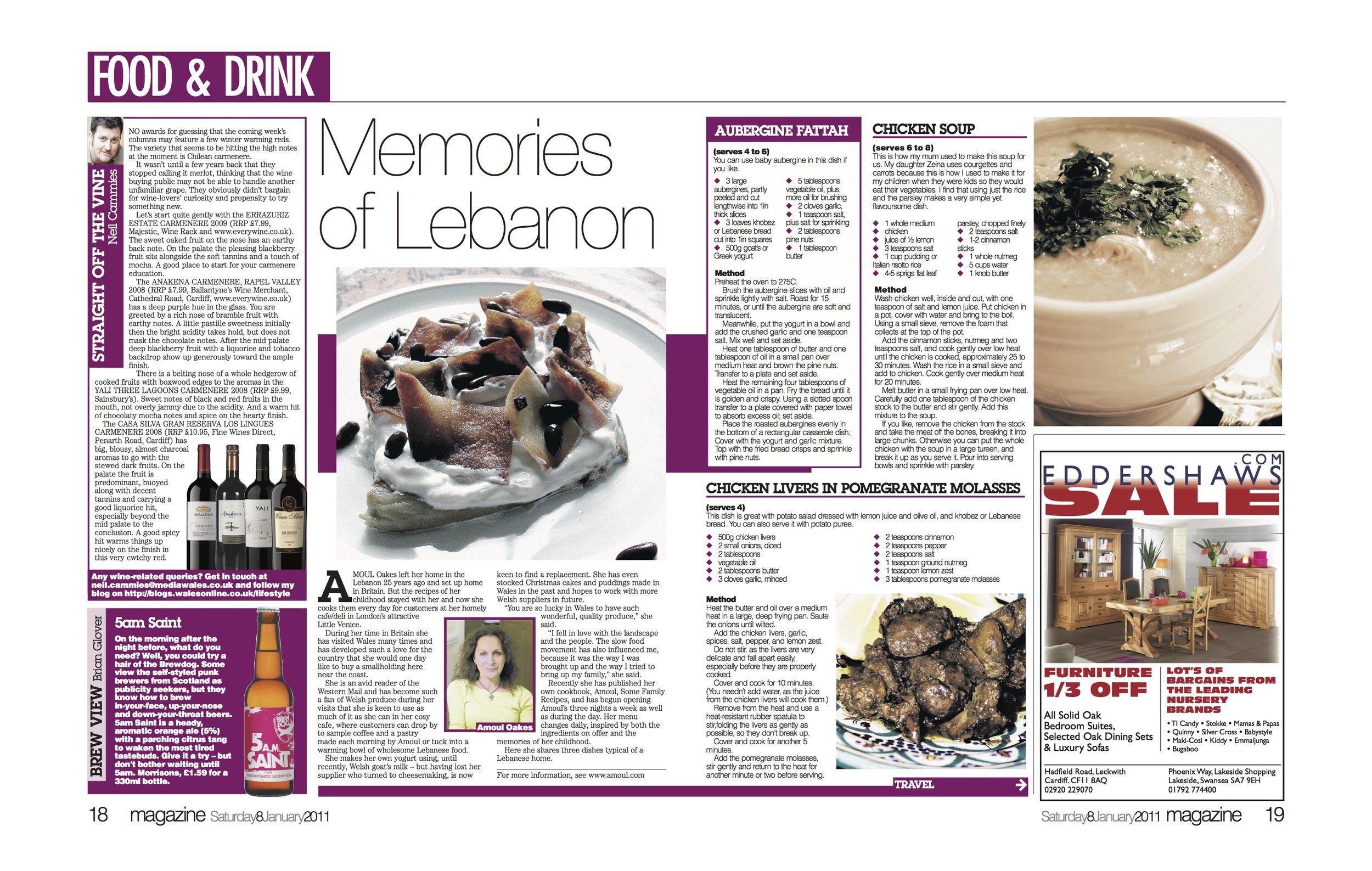 Western Mail Magazine, UK, 2011 -