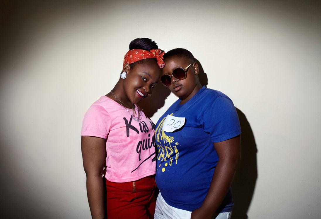 Contestants Zintle (left) and Inga