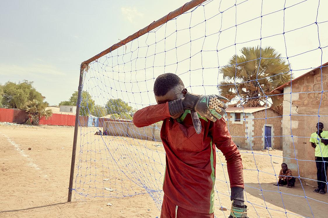 Goalkeeper Santino John
