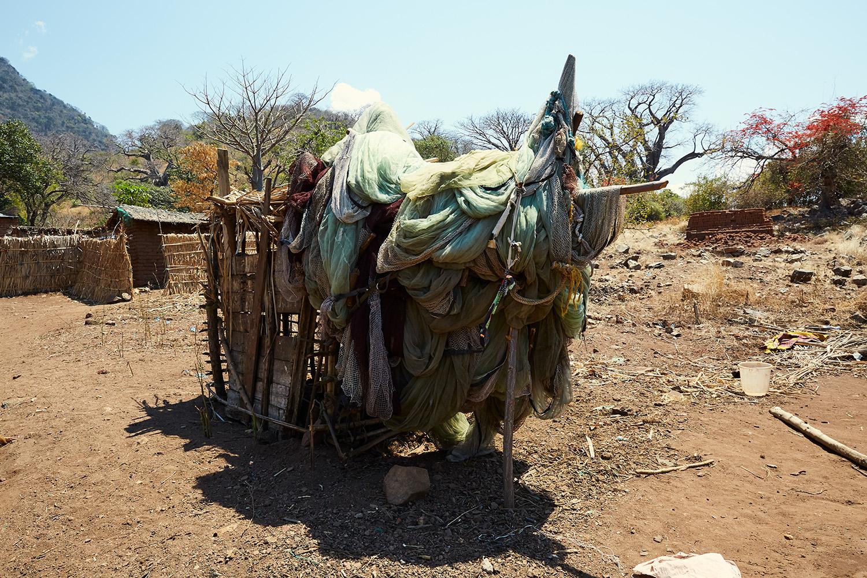 Abandoned fishing nets