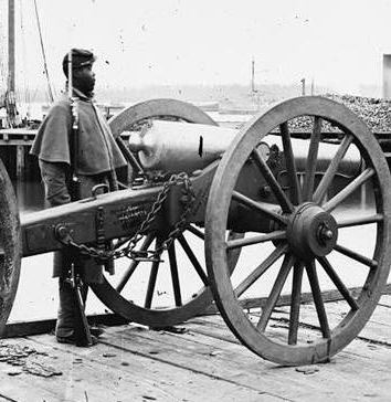 "- The bronze was polished, as per curatorial request, to return the Napoleon 12-pounder to an ""in-use"" appearance based upon period descriptions of artillery during the Civil War."