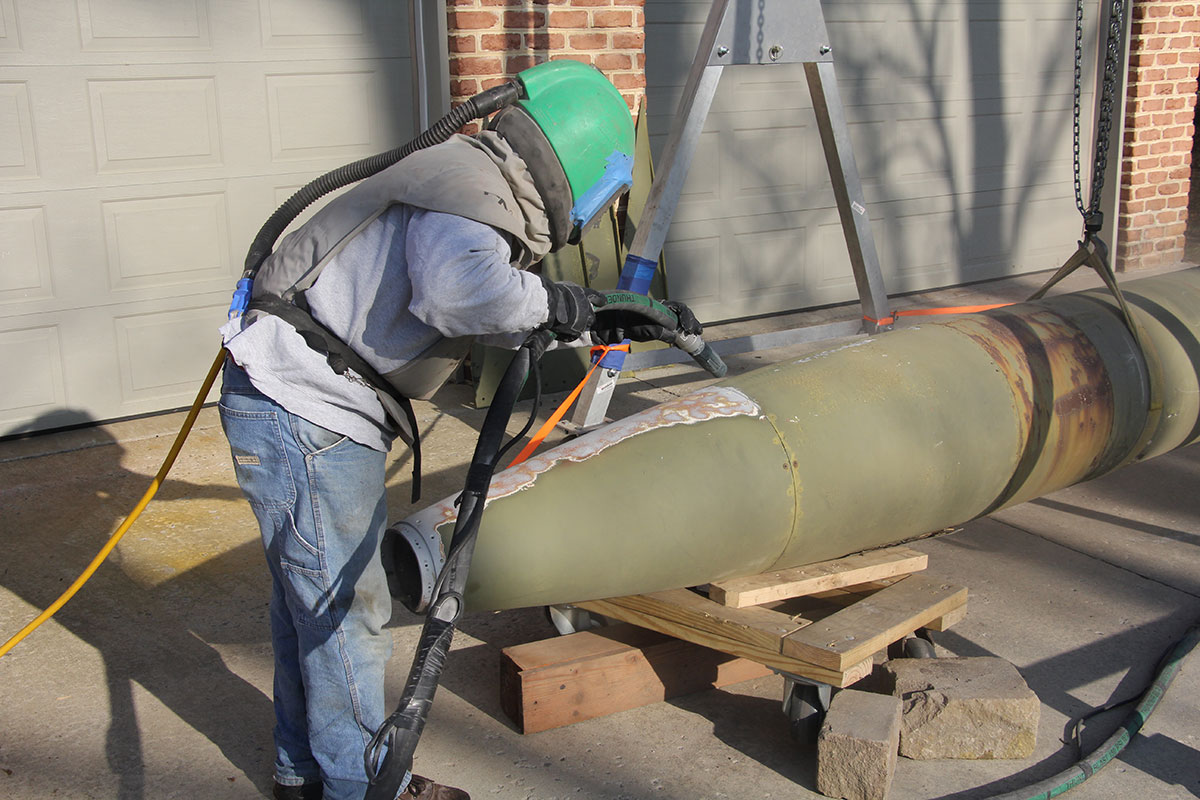 What we did - The paint coating had badly deteriorated and allowed surfaces to corrode. While the missile had been properly flush and decommissioned, corrosive materials remained on the interior and had slowly eaten through areas of the aluminum.