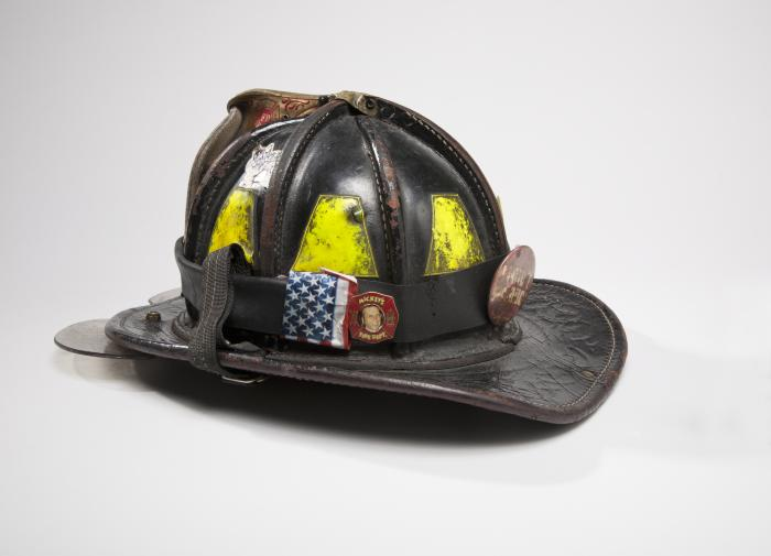 Fire helmet from September 11 Memorial and Museum