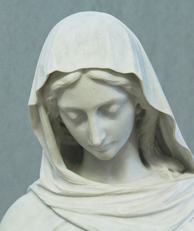 After: marble sculpture after conservation treatment