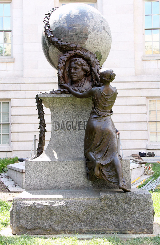 After: bronze sculpture after re-patination treatment
