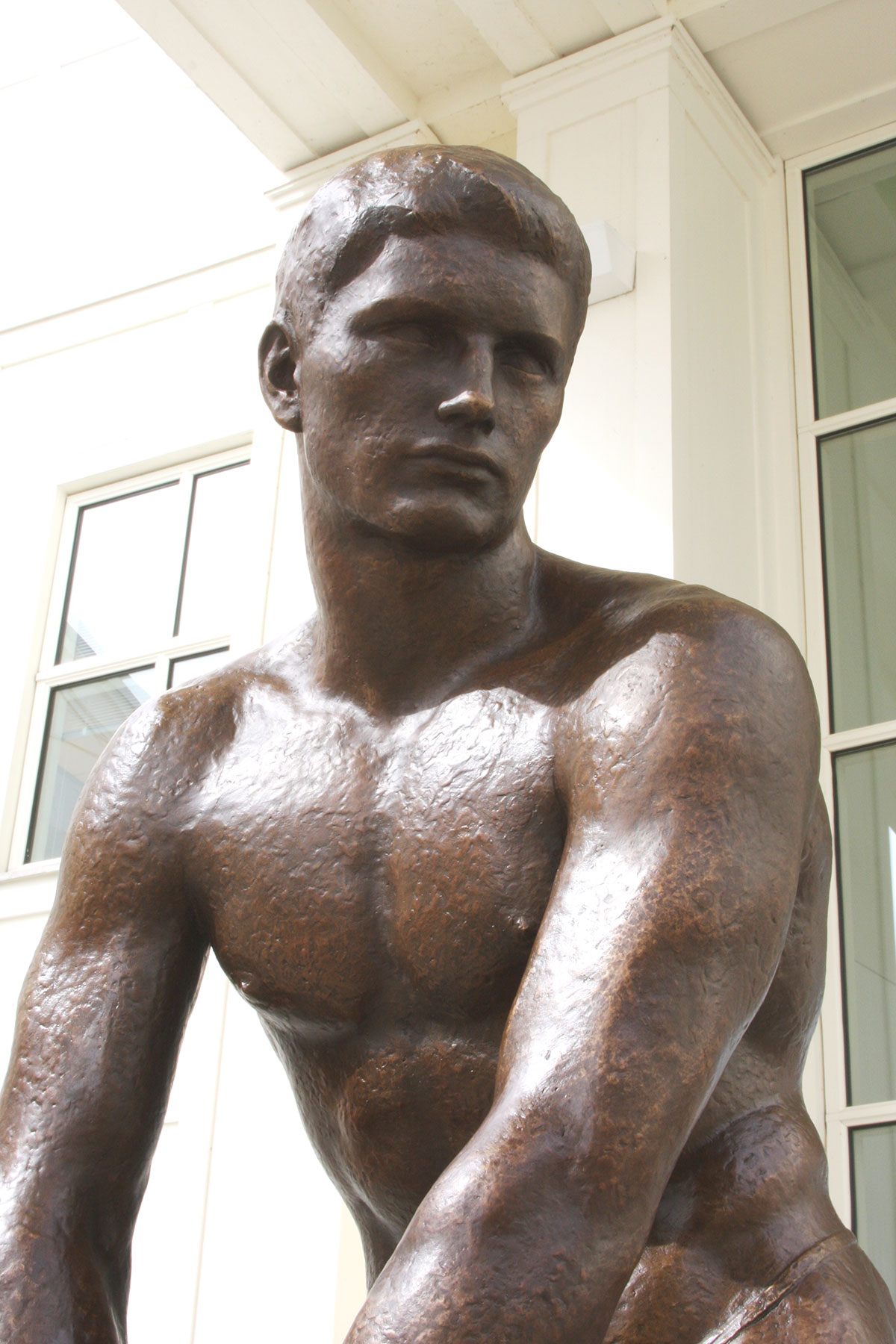 After: bronze sculpture after conservation treatment