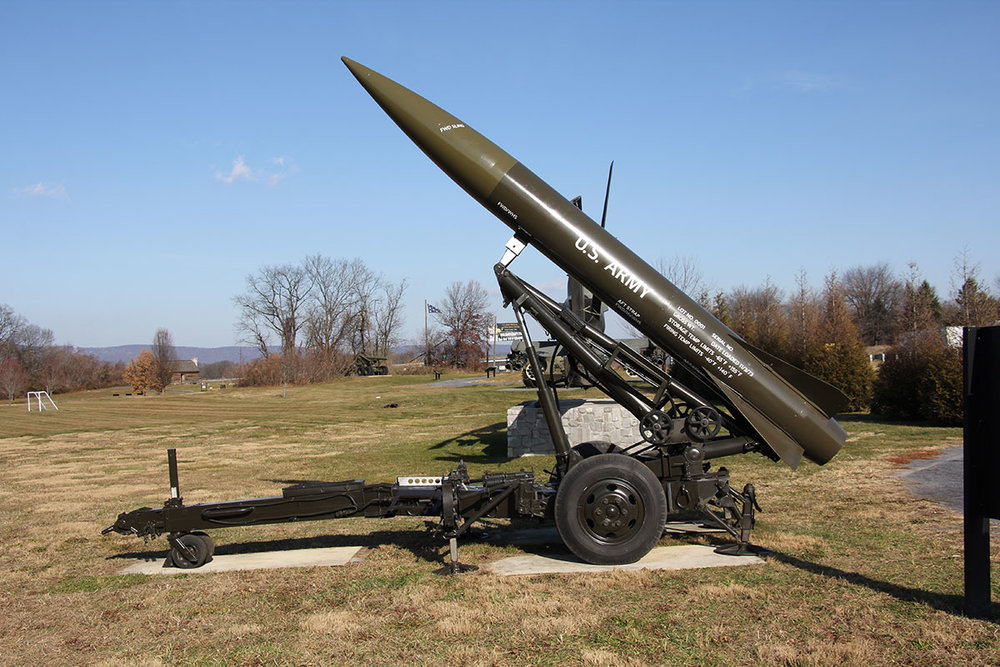 After: military missile after conservation treatment