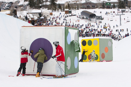 An  art installation  at Aspen Skiing Company
