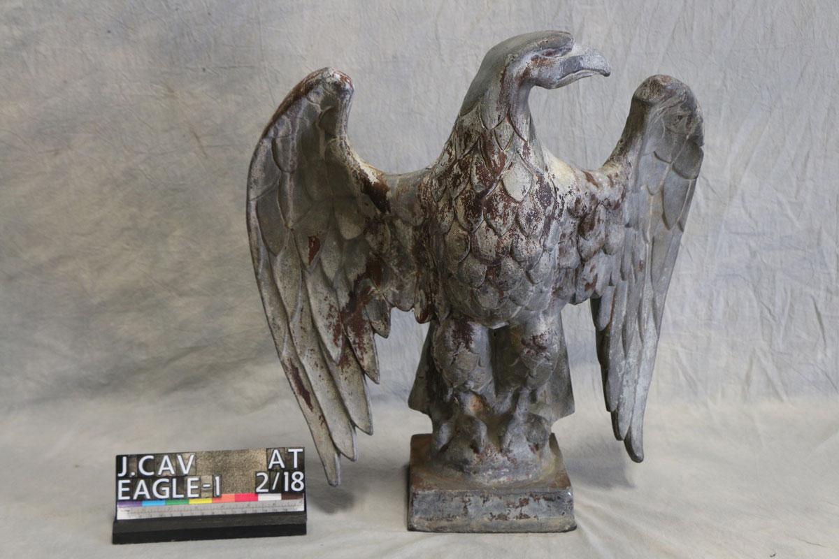 Lead Eagle Sculpture