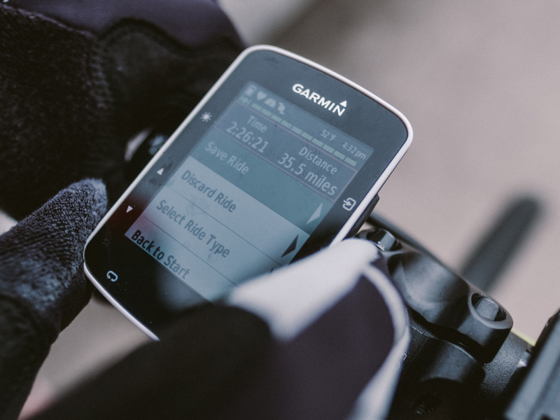 "Garmin 520:  ""I started using a Garmin again about a year ago. It meshes up my rides with my heart rate monitor.""  $249"