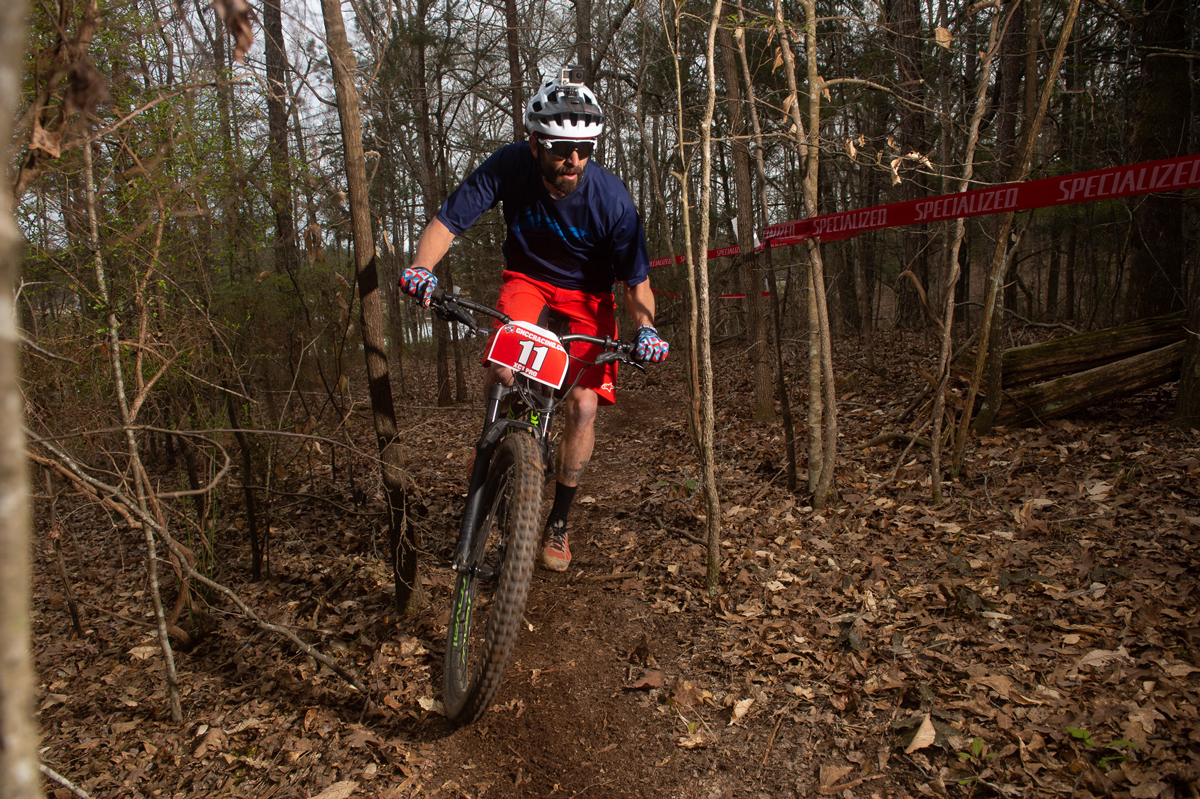 STILL FINISHING ON THE PODIUM: Ross, who films his rides with a GoPro attached to his helmet for racertv.com (above), finished second at the first Grand National Cross Country Series race in Washington, Ga., March 16 (below), and third at the second event in Morganton, N.C., March 30.