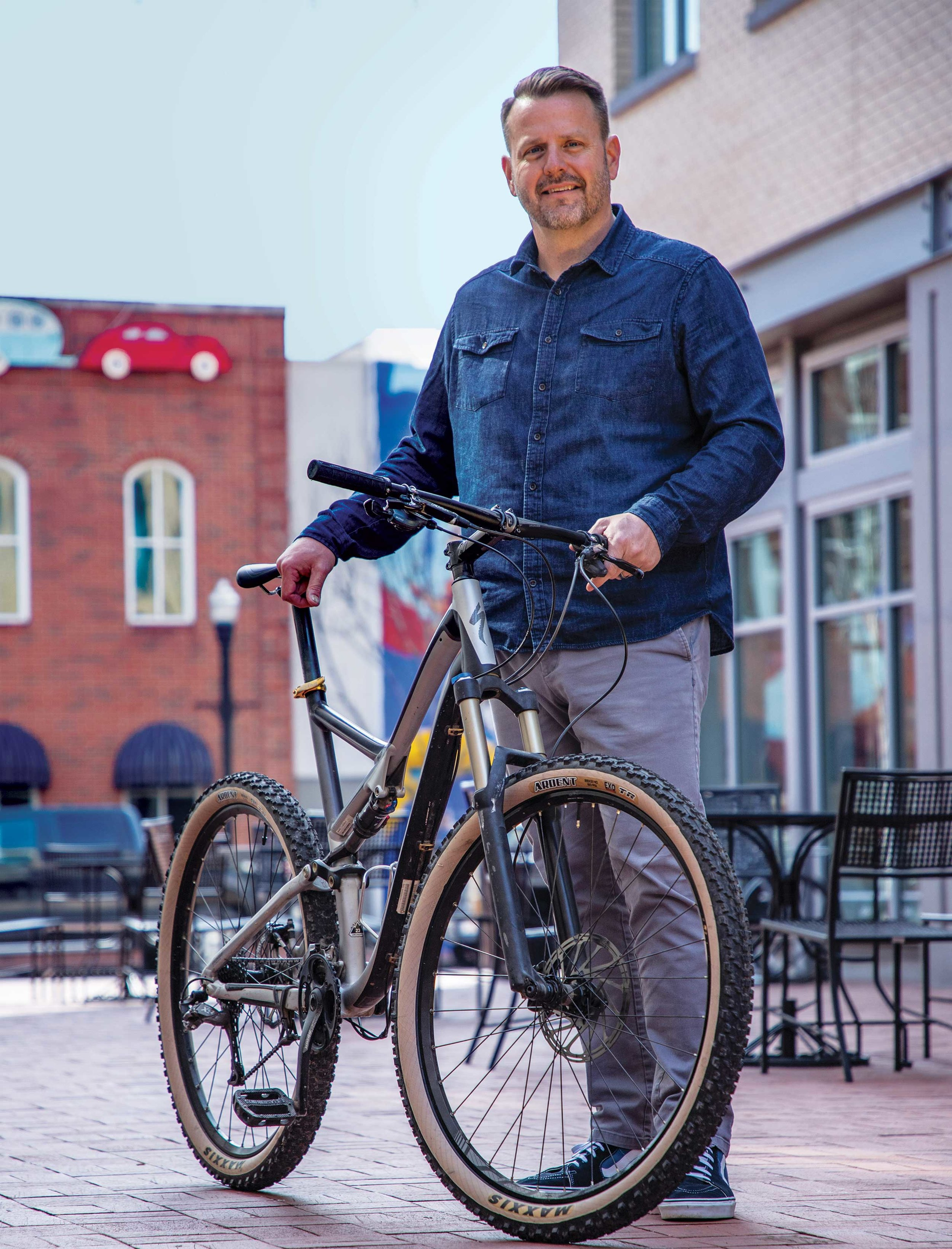 FROM RECREATION TO TRANSPORTATION: LaneShift's Ryan Hale wants Arkansas to change how it thinks about bicycles.