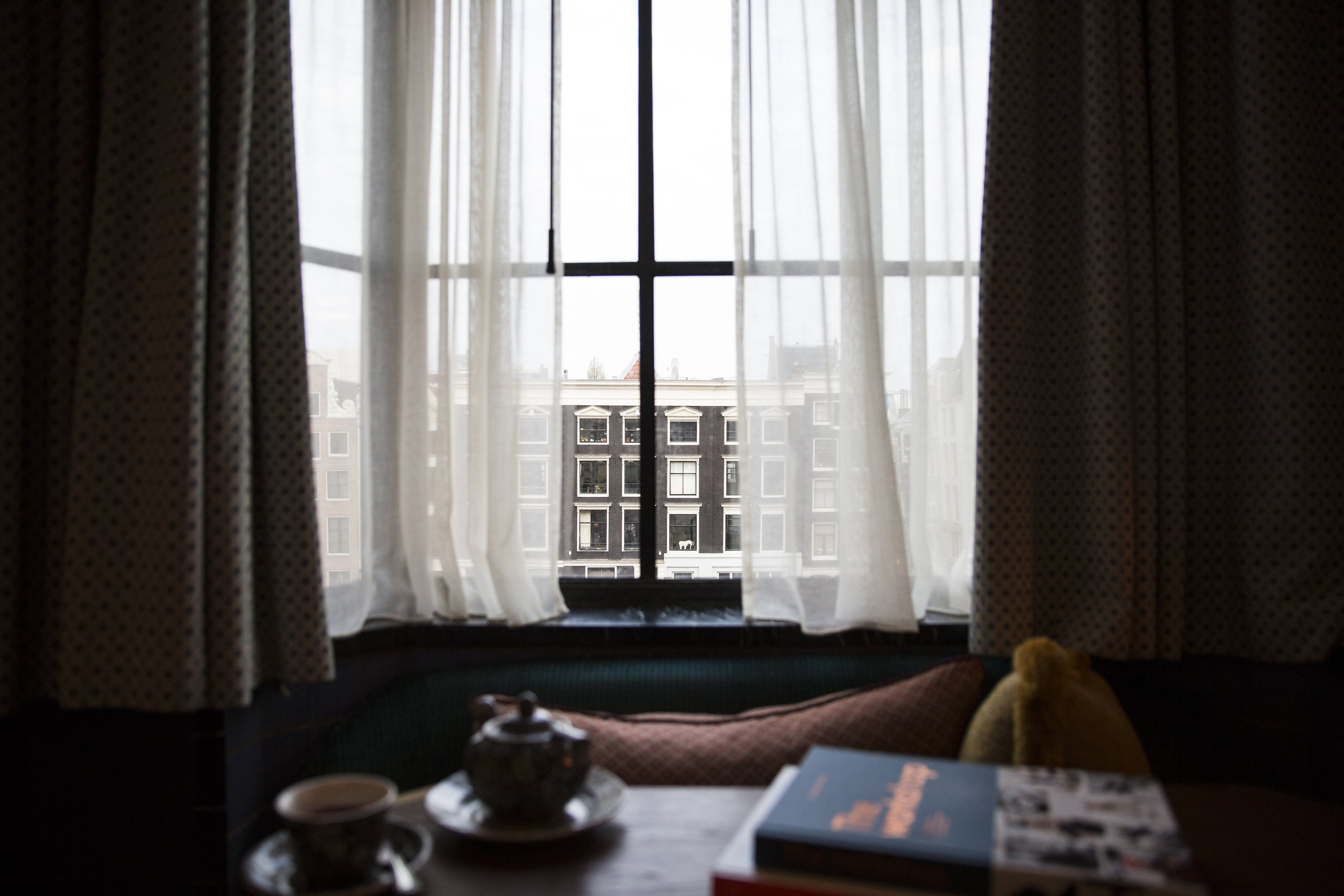 SOHO HOUSE AMSTERDAM   We stayed at Soho House Amsterdam. As with all their houses, it's more than a home away from home, no need to pack toiletries or hair straightners, the bedroom was delightful, the sheets and pillows as always so luxurious and waiting for you is the nespresso coffee machine and House Cookies in the cookie tin.  This site opened last year in the 1930s Bungehuis building, a huge art deco site, that until Soho House took it over, was inhabited by squatters. (I was told they have moved next door) The art deco touches are evident throughout, the members area is relaxing and stylish. The roof has fantastic views plenty of seating areas and a pool if you fancy doing some lengths! Cecconis is on the ground floor, if you don't want to venture too far, I can recommended the Aubergine parmigiana!  *Our stay here was gifted as part of some work I did for Soho House last year.