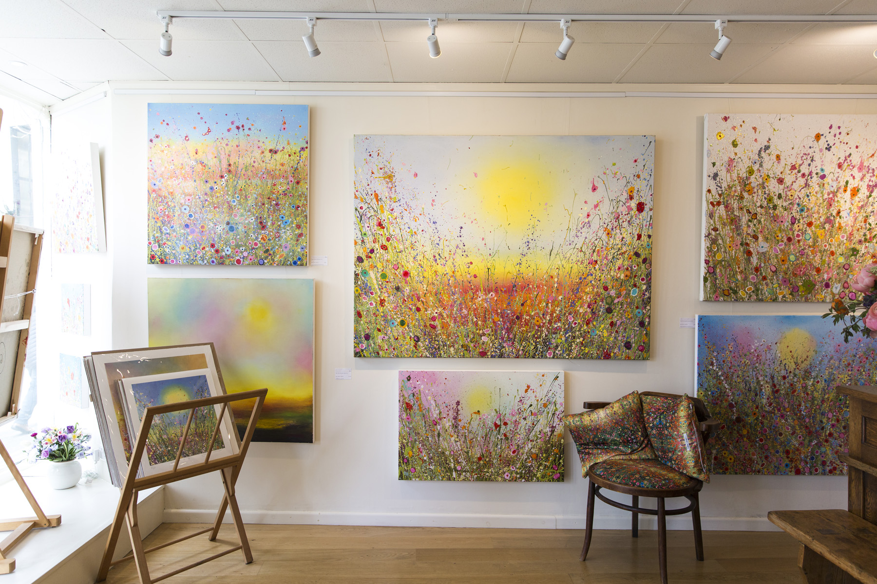 Yvonne Coomber Artist in Devon Retreat
