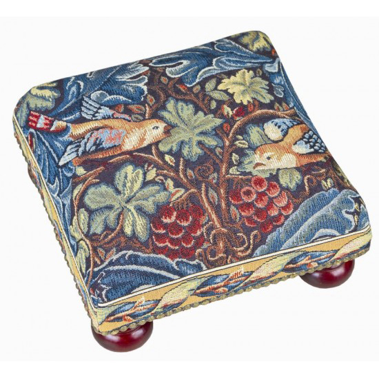 Footstools - William Morris tapestry patterns are classics of English interior design.