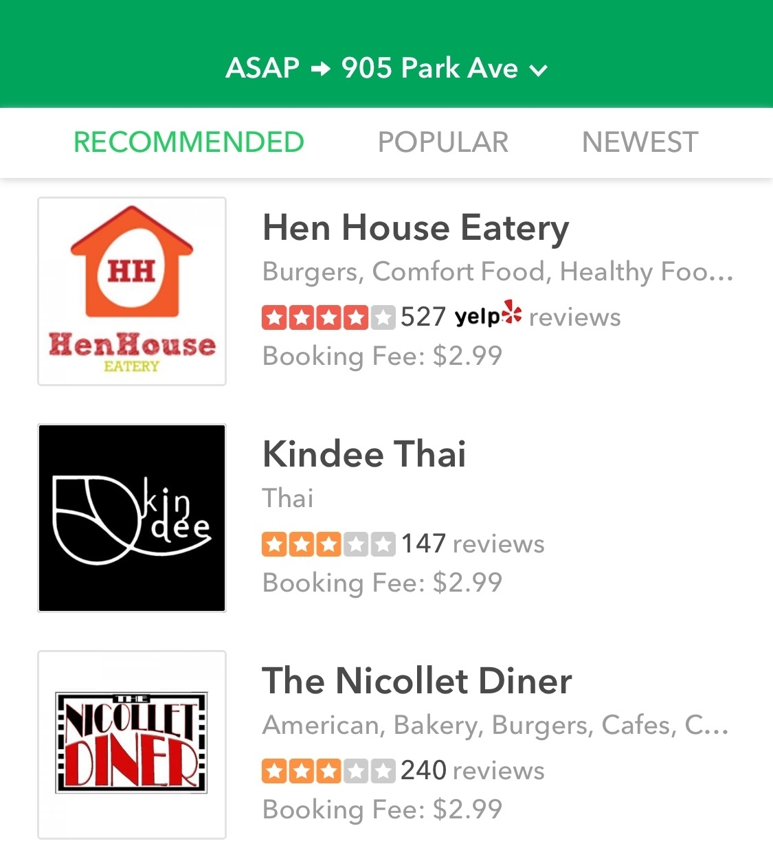 Added Benefit - Our app and website sort restaurants by price, distance and popularity. With this algorithm, lowering your booking fee brings you closer to the top of search results for users in your area. More eyeballs on your menu, means more orders!