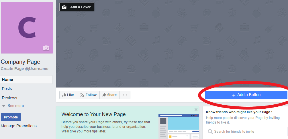 - 1. Go to your restaurant's Facebook page. Make sure you are logged in as a page admin.2. Underneath the right-hand side of your page's cover photo, there should be a large blue button. Roll your mouse over it and click