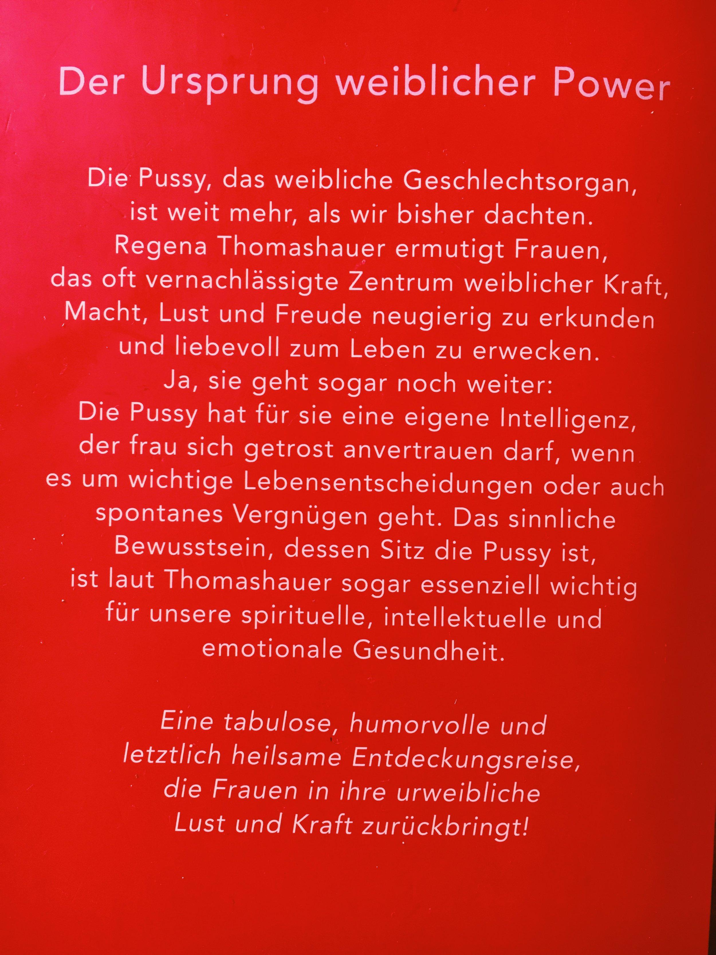 Klappentext_blurb_Pussy Regena Thomashauer