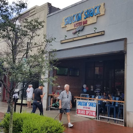 Opened in June of 2018, the   Shuckin' Shack Oyster Bar in Historic Downtown Wilmington   is the brand's flagship model for all future franchise restaurants to follow.
