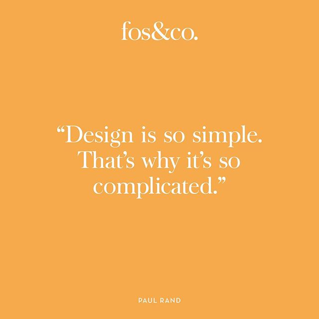 Exactly! It takes clever problem solving to design something that is simple and effective. . . . #branddesign #branding #problemsolving #designquote #simpledesign #effectivedesign #designstudio #brandidentity