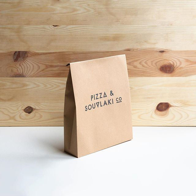 Looking back at the work completed for Pizza & Souvlaki Co. The brief: to create a simple, cost effective takeaway bag design. Here's our answer; what do you think? . . #brandstrategy #branding #packaging #simpledesign #designsolutions #environmentallyfriendly #brandidentity