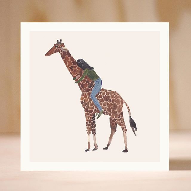 Custom animal hug prints are still available in my shop! Not a single person requested a giraffe hug but I really wanted that to happen so here it is.