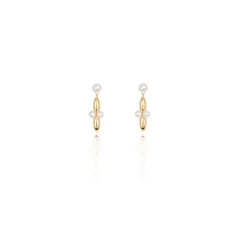 Copy of VENUS Collection earrings with pearl stud