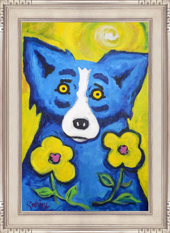 Yellow-Eyes-for-Yellow-Flowers-2001-acr-canvas-36x24-RODRIGUE-framed.jpg