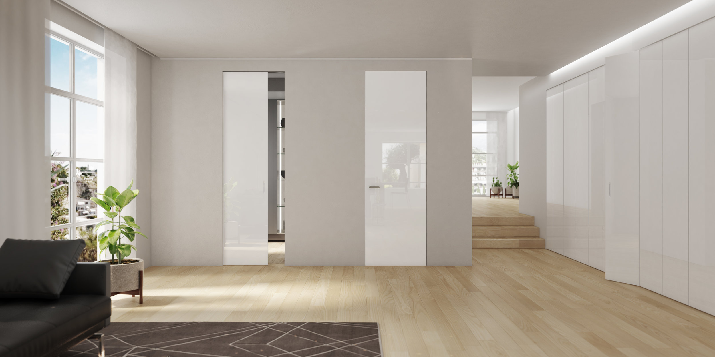 Flush door, white lacquer Ghizzi & Benatti.jpg