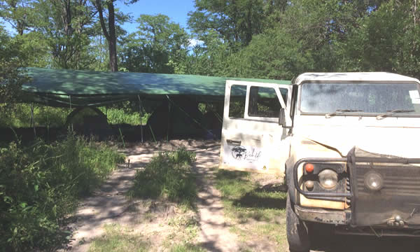 Several tented pickets/fly camps are in position at rainy season hot spots with a vehicle and driver at each to support rangers.   (Implemented by Bushlife Support Unit).