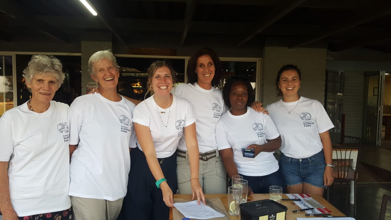 Volunteers from left to right - Jane Mackie, Mel Barnes, Gemma Phillis, Laura Taylor, Farai Chapoterera and Beth-Ann Sher