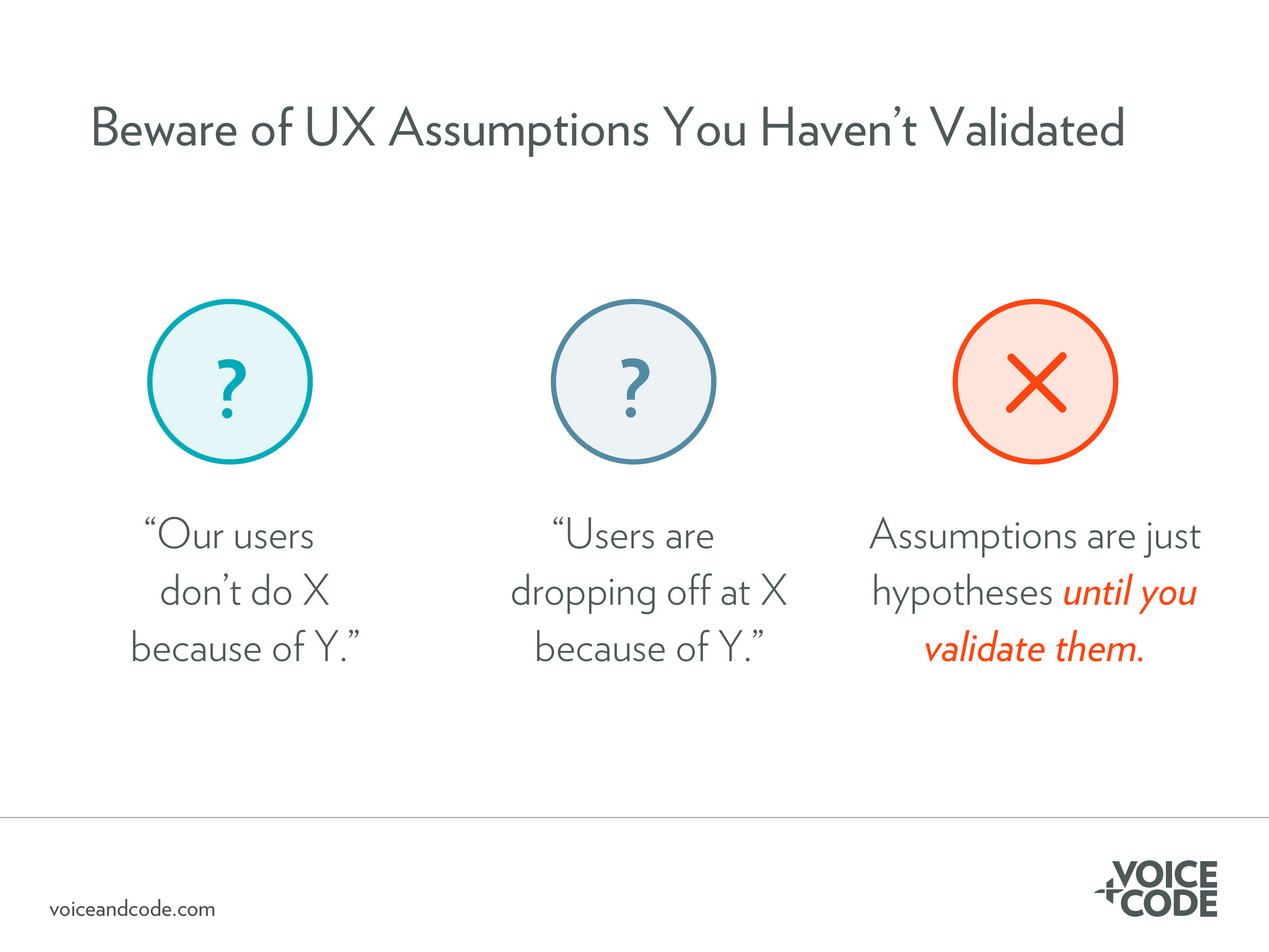 Beware of UX assumptions you haven't validated
