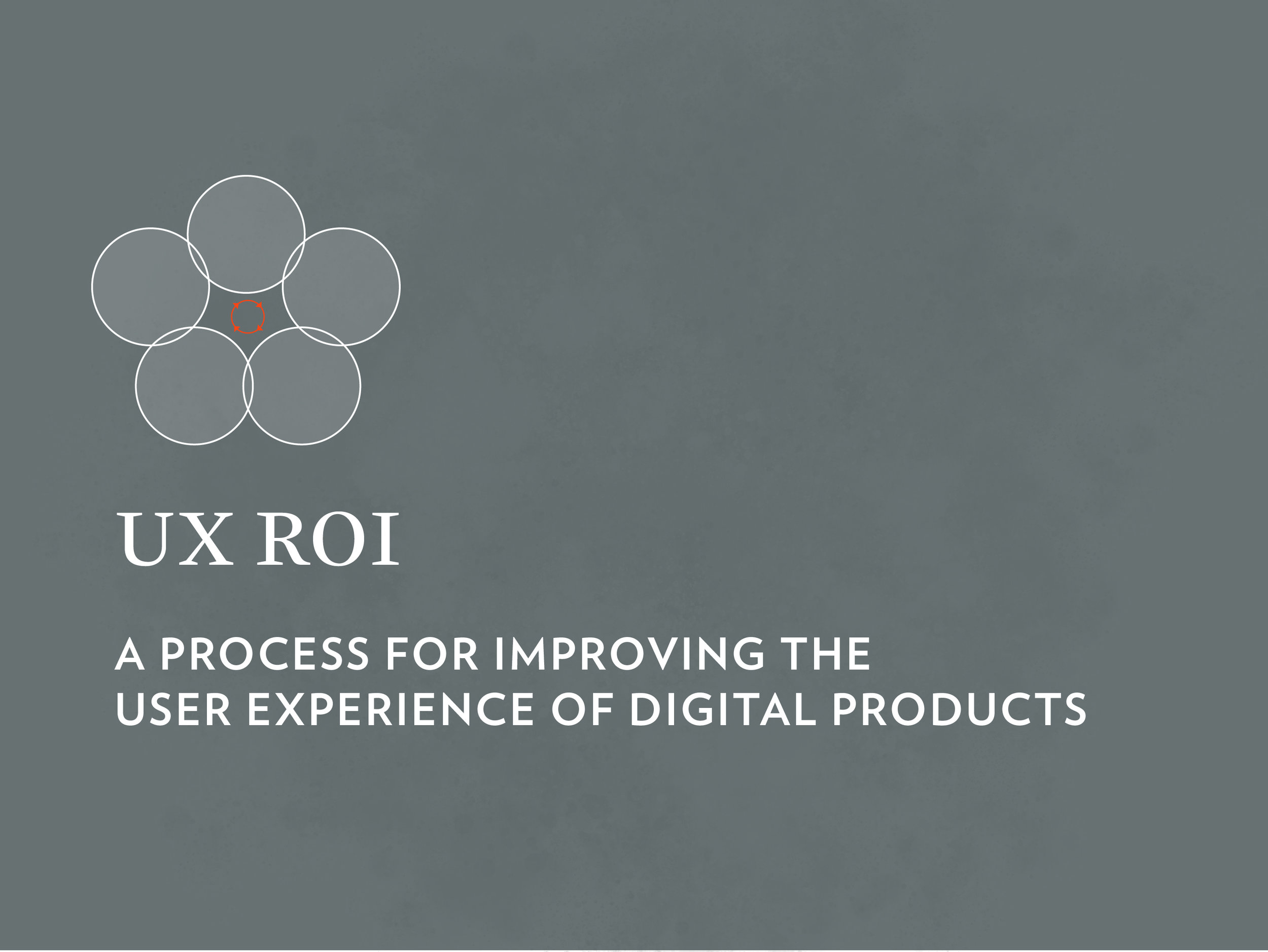 UX Workshop: UX ROI - A Process for Improving the User Experience of Digital Products