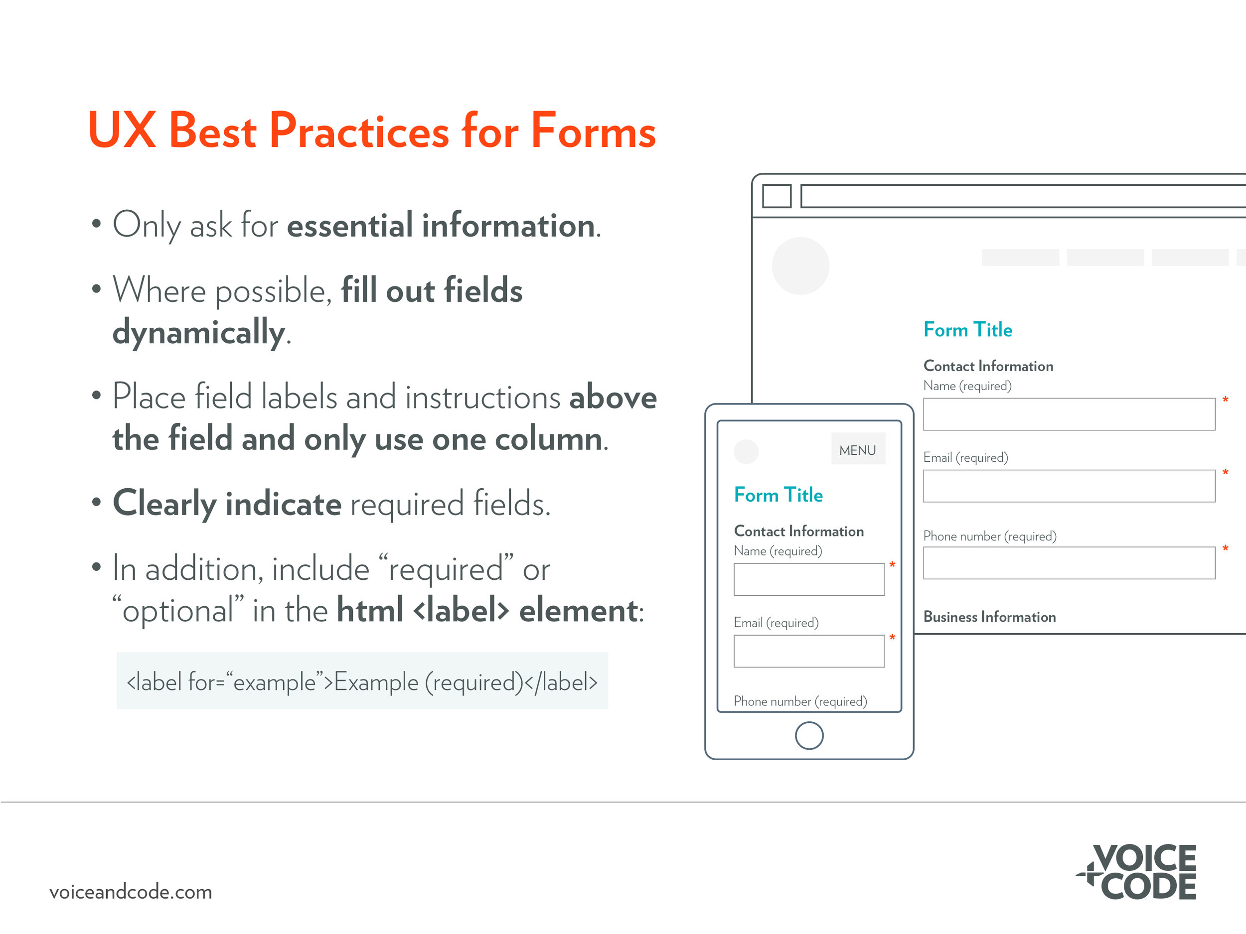UX Best Practices for Forms