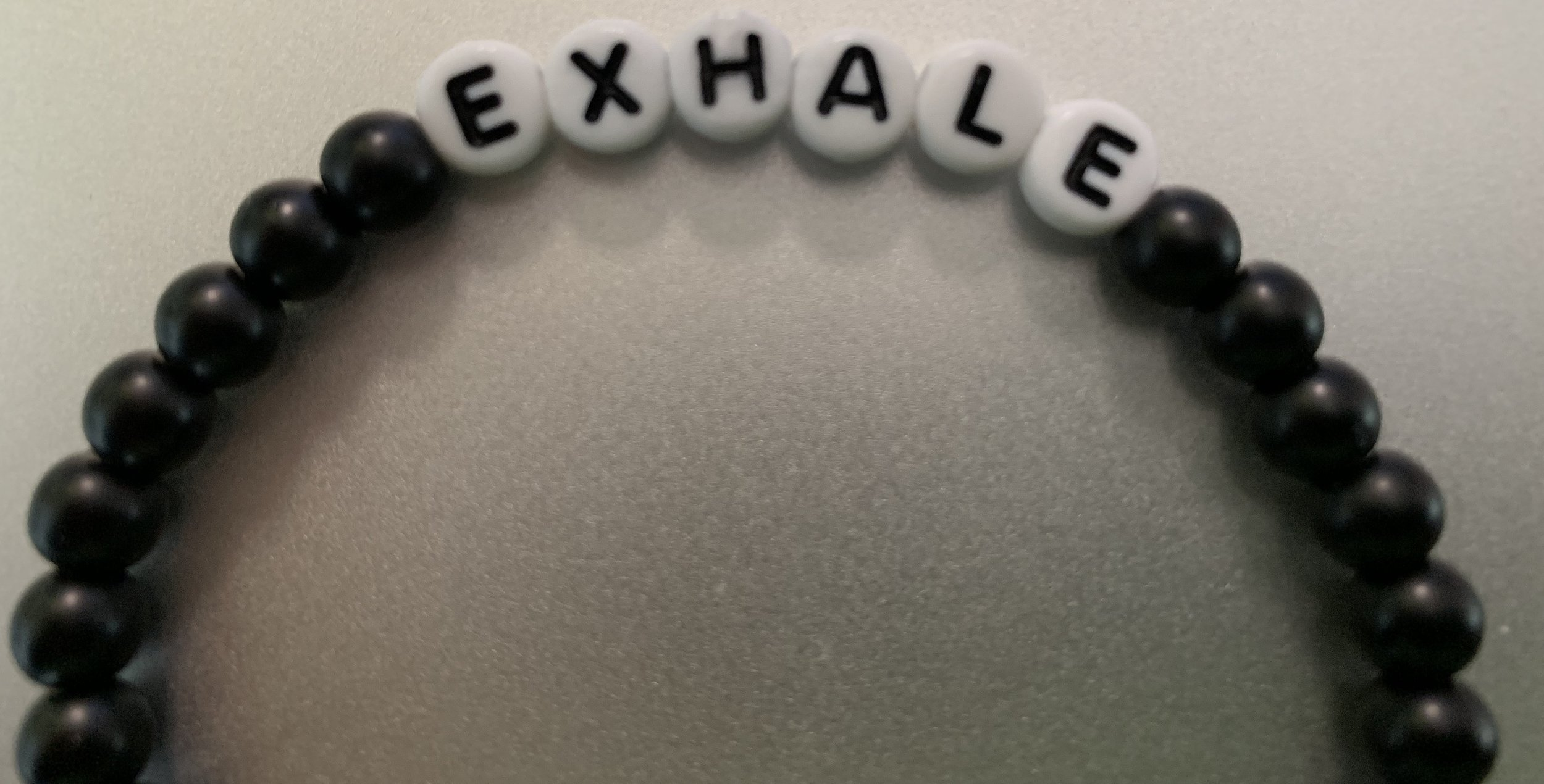 My bracelet from the Exhale Project.