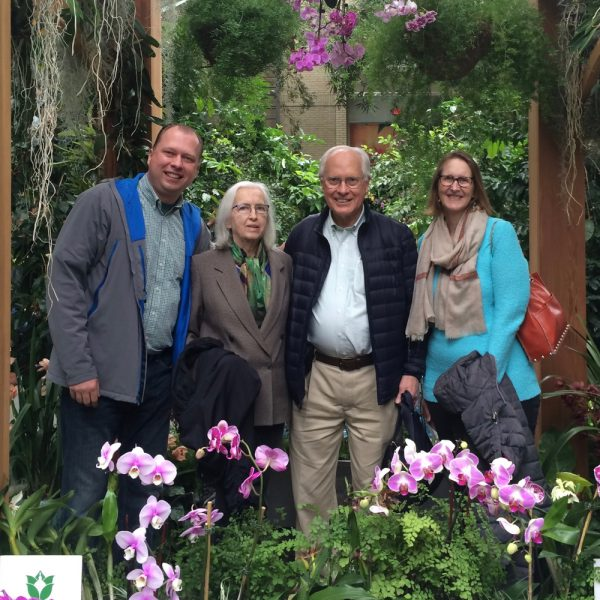 Spending time with Frank's Mom and Dad at the US Botanic Gardens