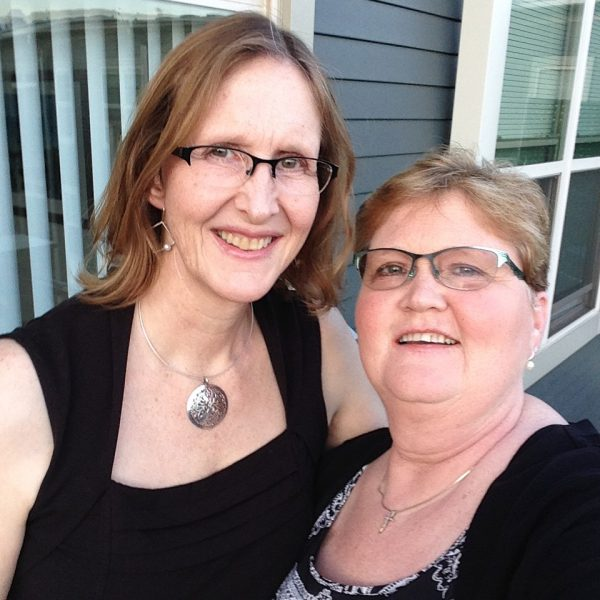 Nancy and her sister on their way to a fundraiser