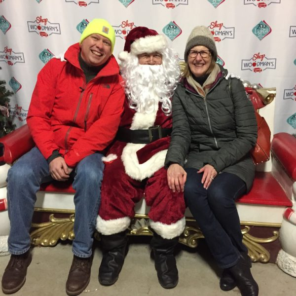 Hanging out with Santa