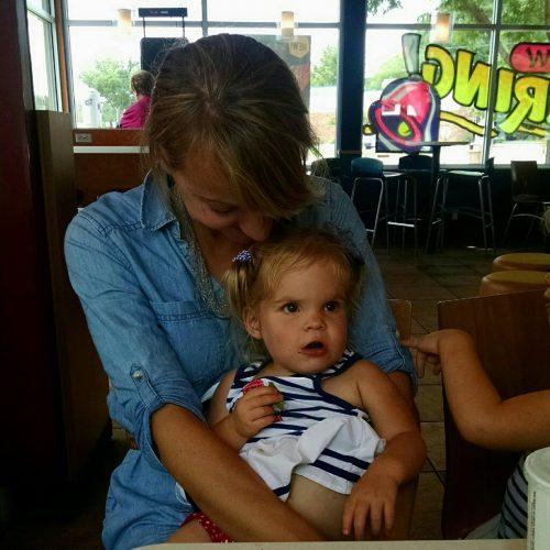 Jannelle cuddling with her niece