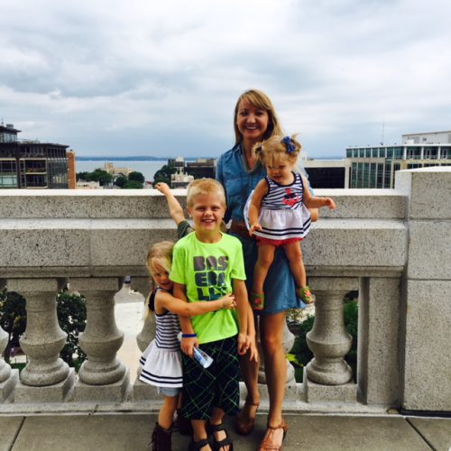 Jannelle at the Capitol with her nieces and nephews