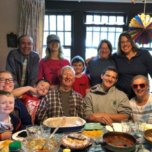 Celebrating a birthday with Jane's family