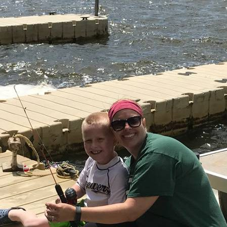 Fishing with Mom and Braden