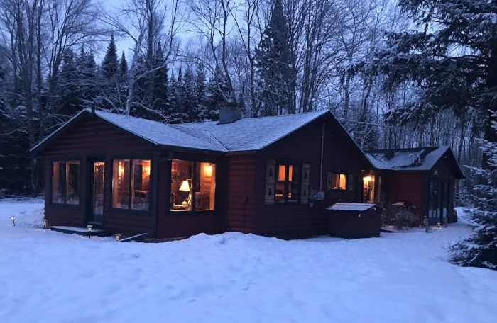 Our cabin in the Northwoods!