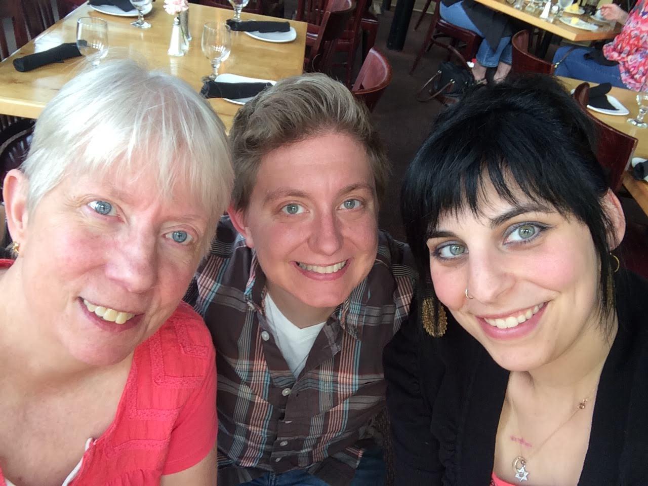 celebrating lesley's birthday with kris' mom